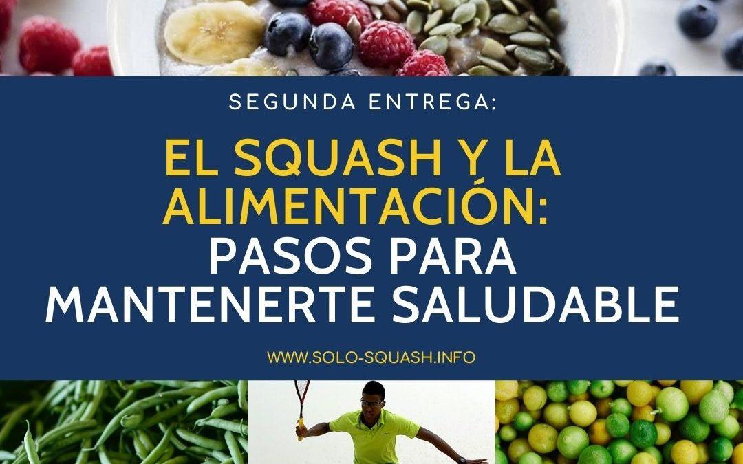 Segunda entrega / El Squash y la alimentación: Pasos para mantenerte saludable