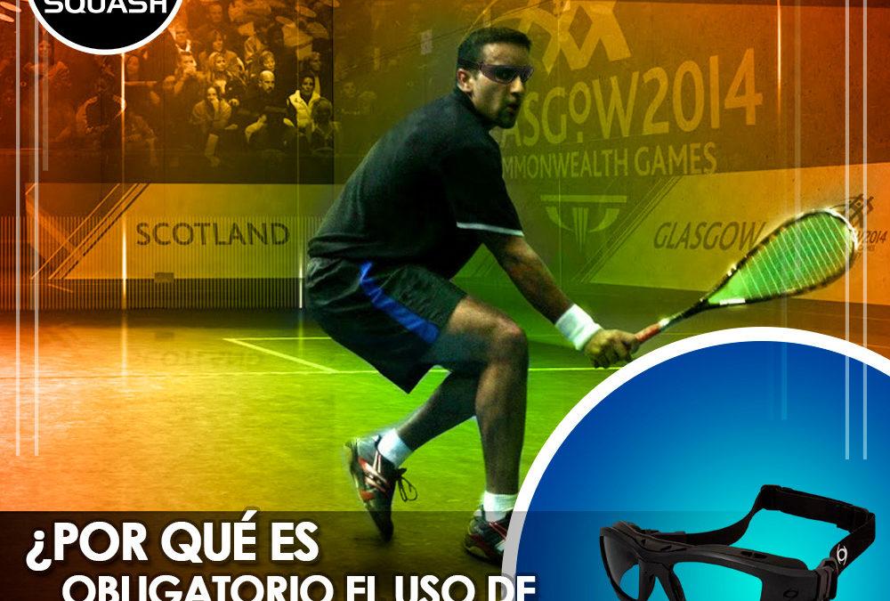 ¿Por qué es obligatorio el uso de lentes para jugar Squash?